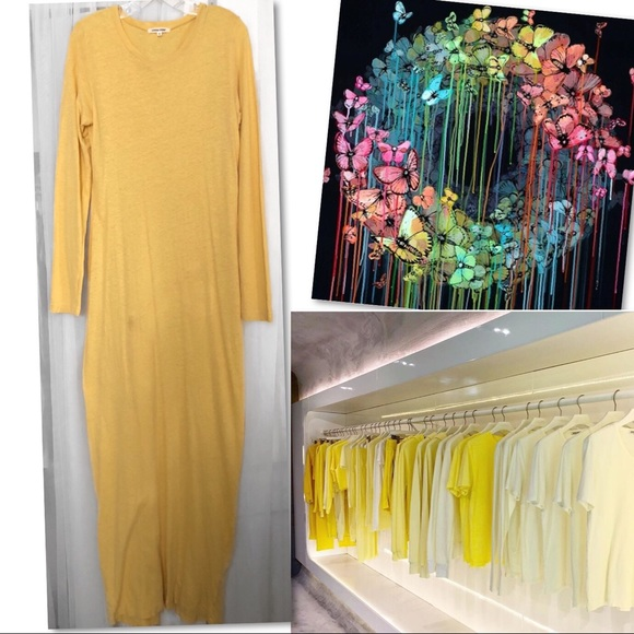 Cotton Citizen Dresses & Skirts - 🆕 COTTON CITIZEN HEMP COTTON YELLOW MAXI DRESS S